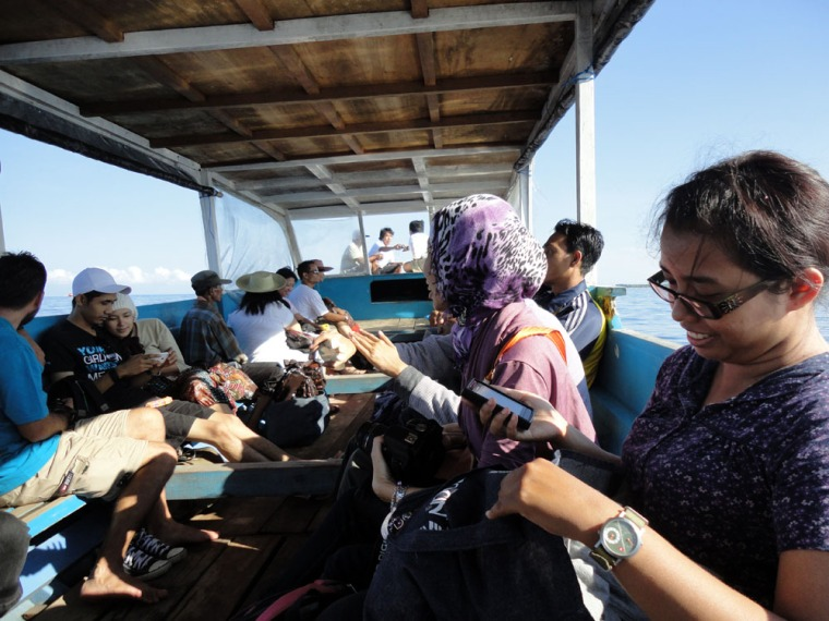 kondisi public boat menuju gili trawangan yang kami naiki