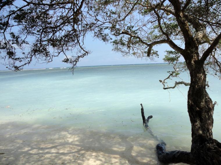 salah satu pantai di sisi barat Gili Trawangan