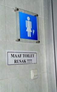 toilet rusak
