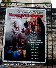 Free Barong Kris Dance di GWK