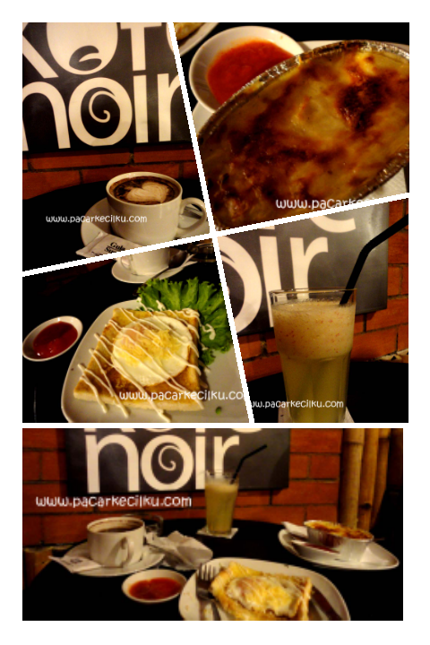 menu di KofeNoir Coffee Shop Jogja