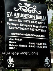 alamat Coklat Monggo Kotagede Jogja
