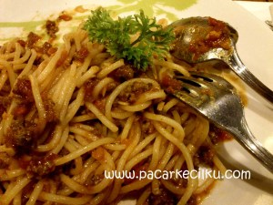 Spagheti Bolognaise ala XXI Cafe Jogja