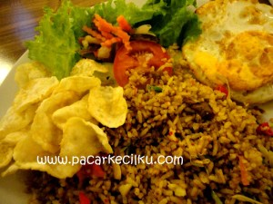 nasgor kambing ala Break Resto & Coffee
